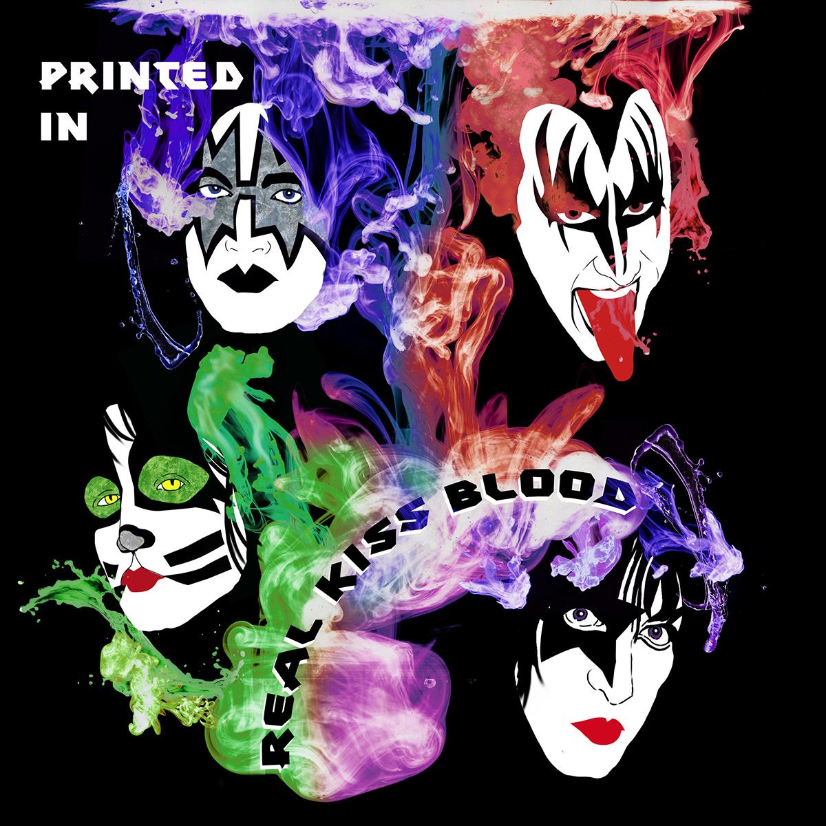 Illustrazione Zoa Studio trubuto al fumetto Kiss