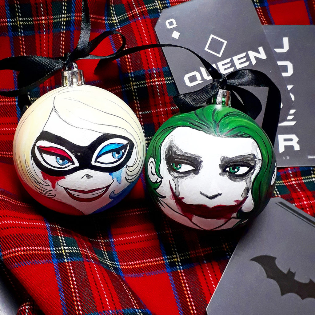 Harley Quinn and Joker dipinte da Zoa Studio