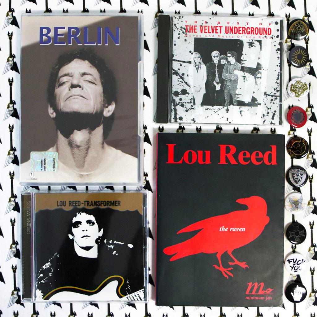 Opere di Lou Reed (documentario Berlin, album Trasformer, Nico e i Velvet Underground, libro Il corvo) con stampa Zoa Studio