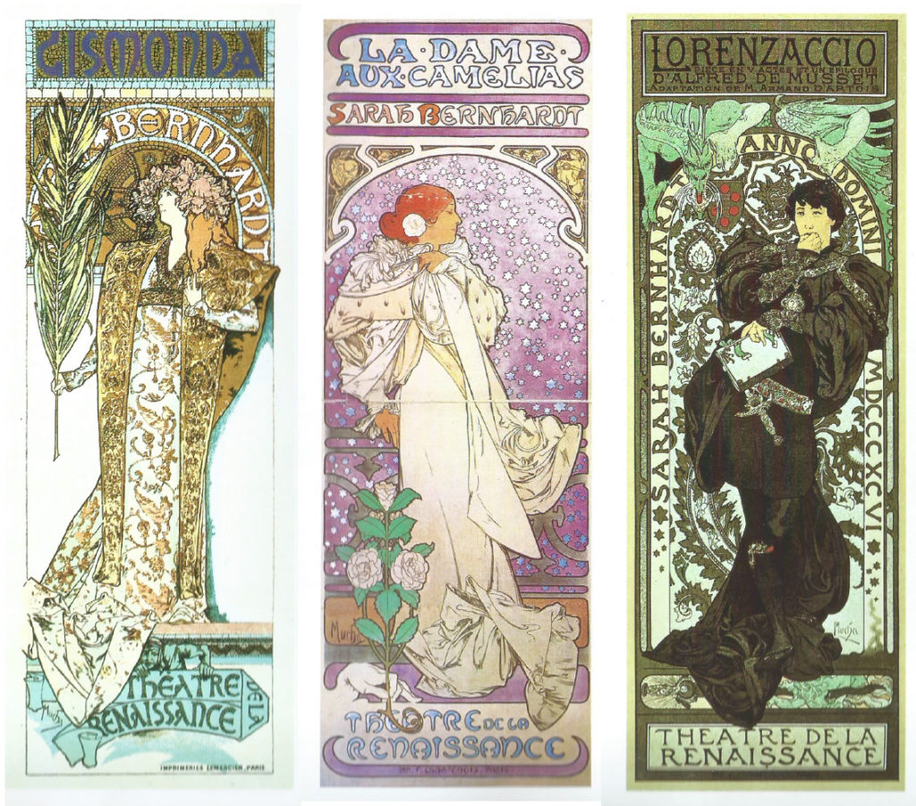 Manifesti di Alphonse Mucha per Sarah Bernhardt