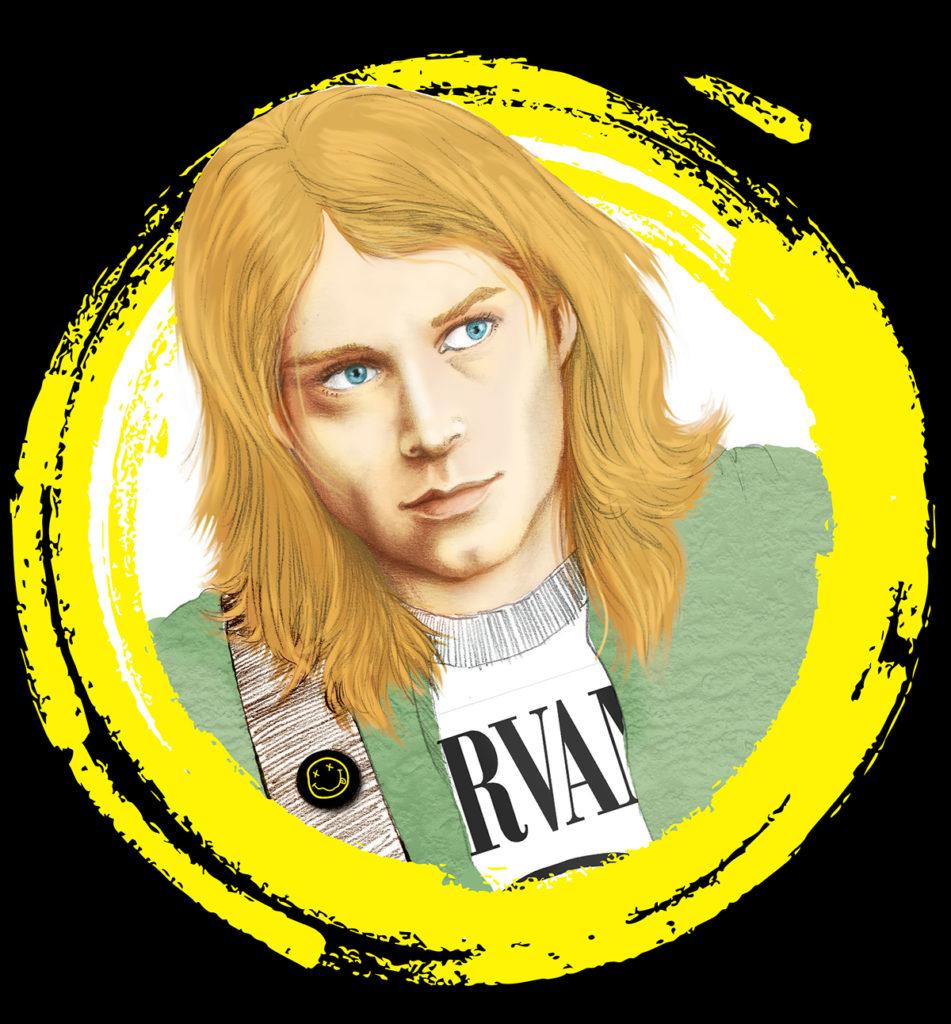 Ritratto di Kurt Cobain di Zoa Studio