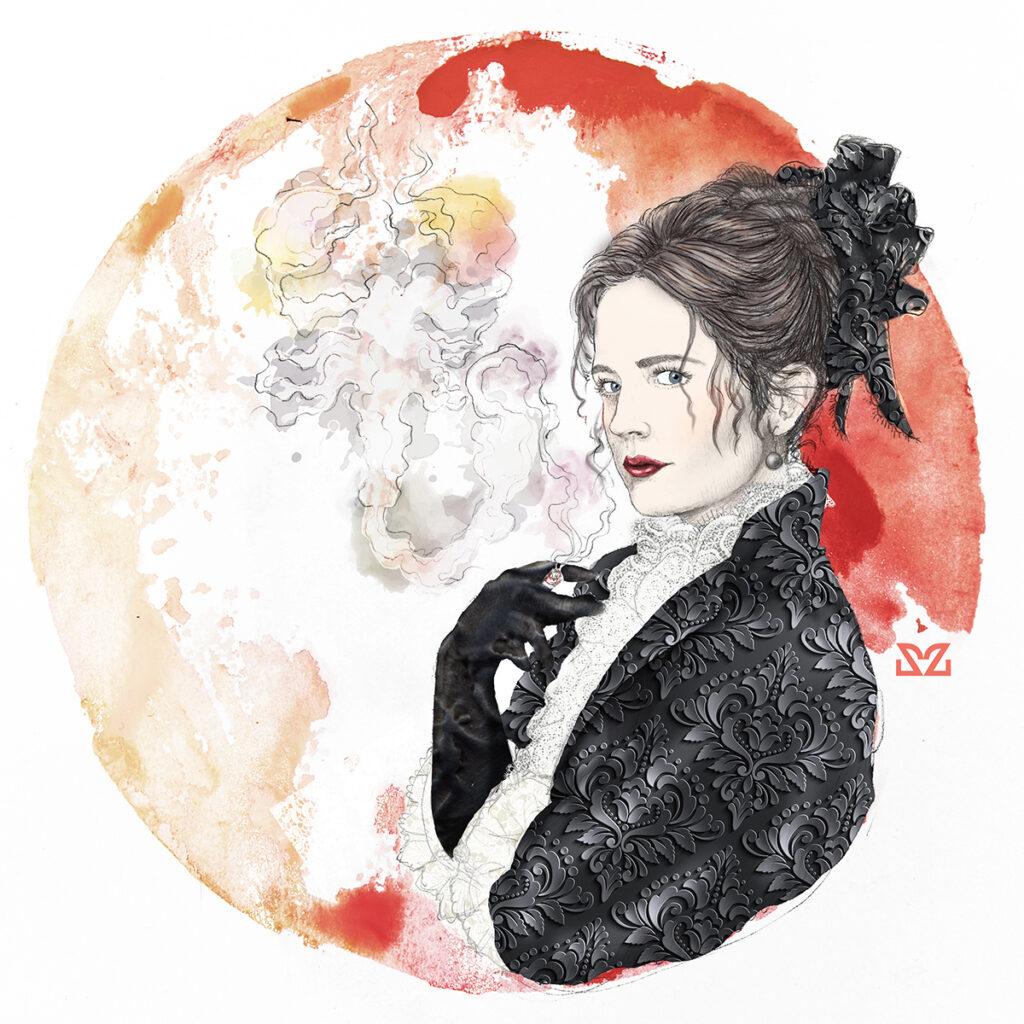 Illustrazione di Zoa Studio ispirata a Penny Dreadful
