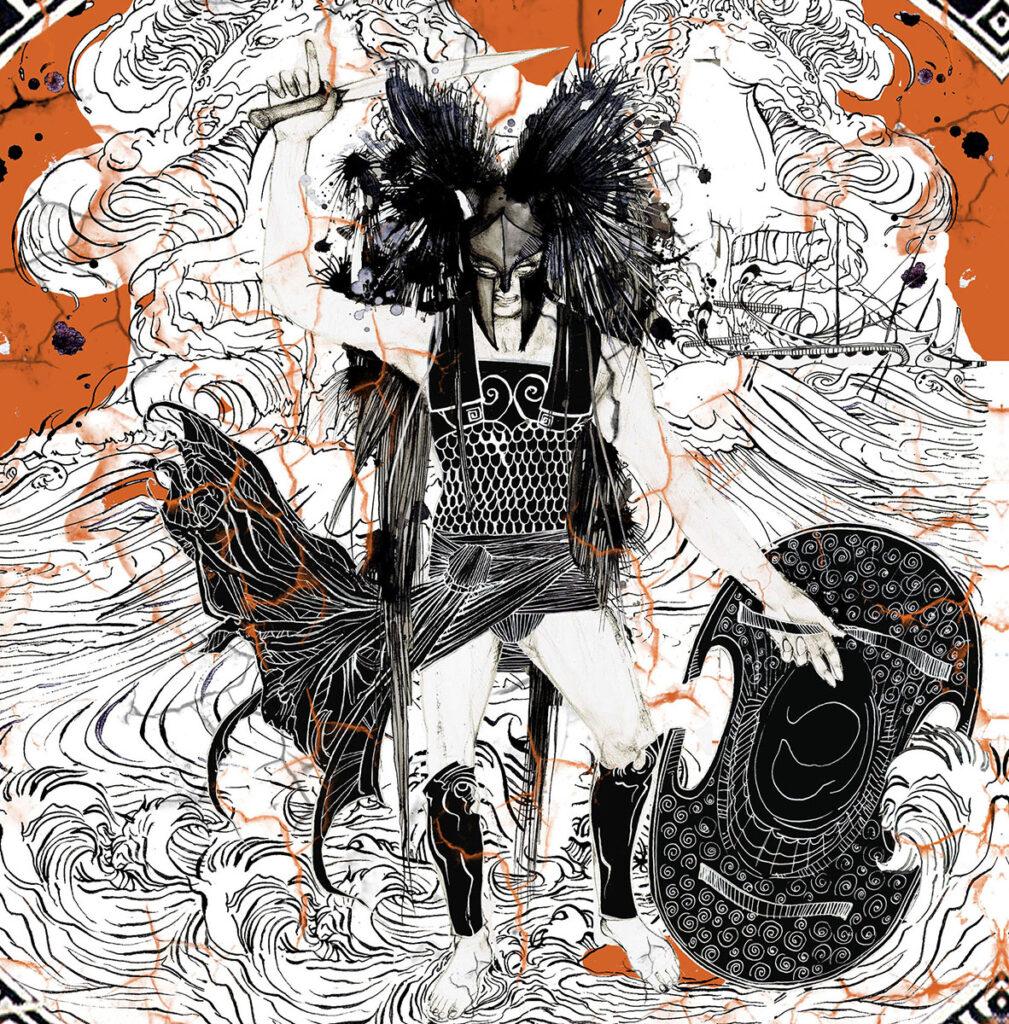 """Illustrazione di Zoa Studio ispirata al tema """"Marte, dio della guerra"""""""