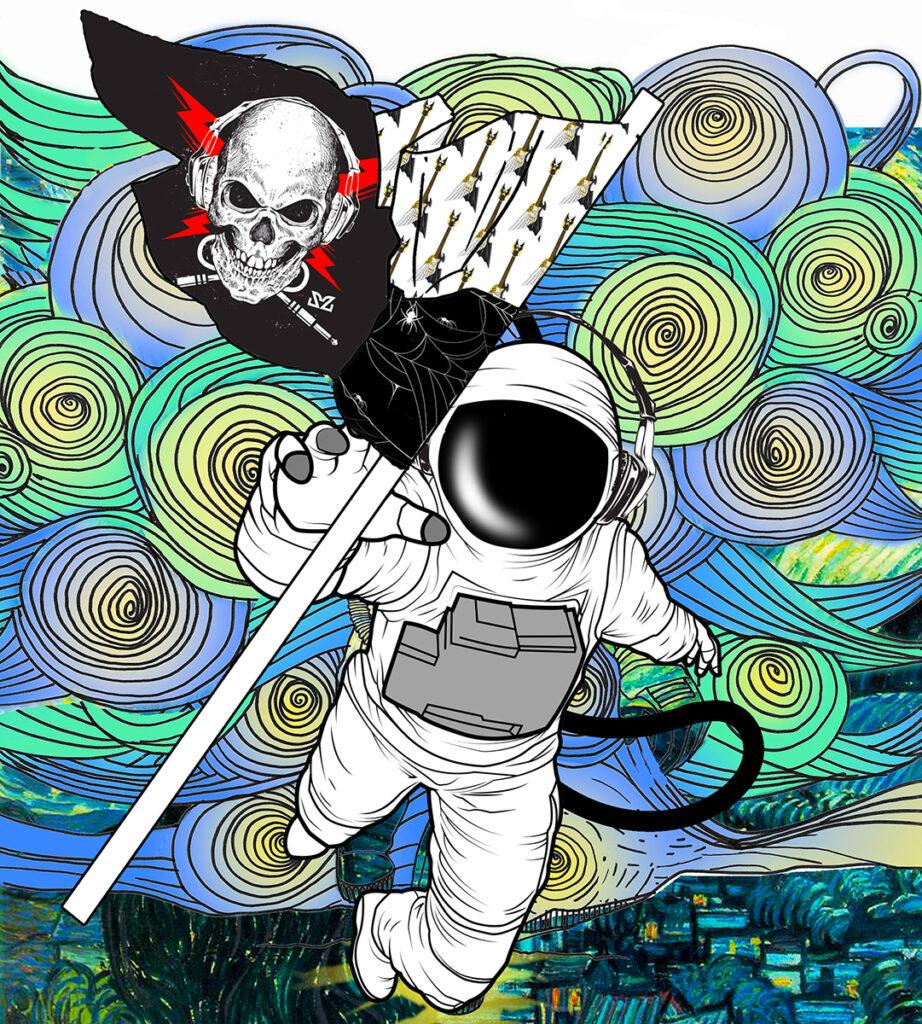 Illustrazione di Zoa Studio per articolo su Space X