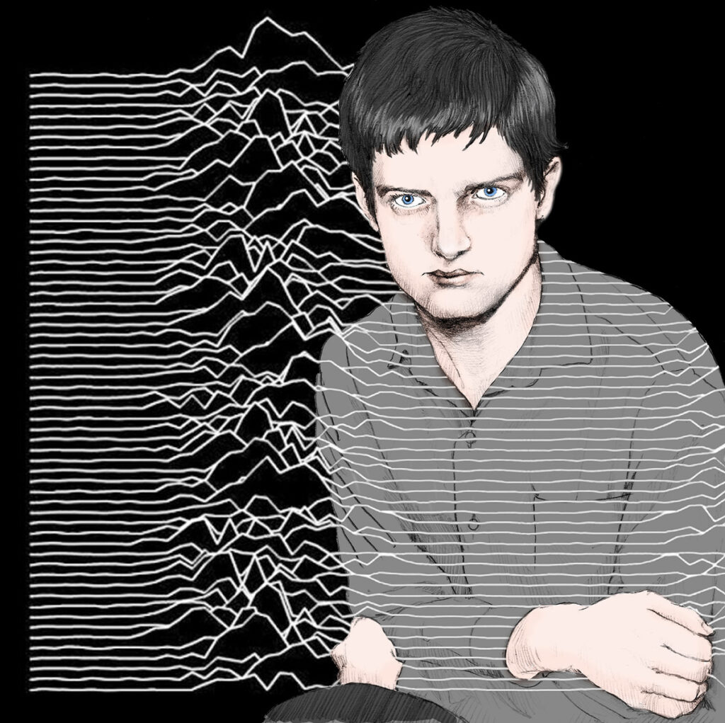 Ian Curtis by Zoa Studio