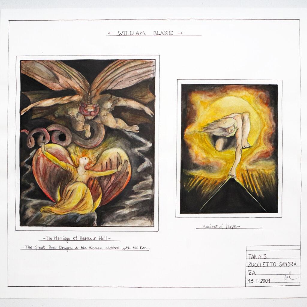 Illustrazioni che riproducono le opere di William Blake di Zoa Studio (2001)