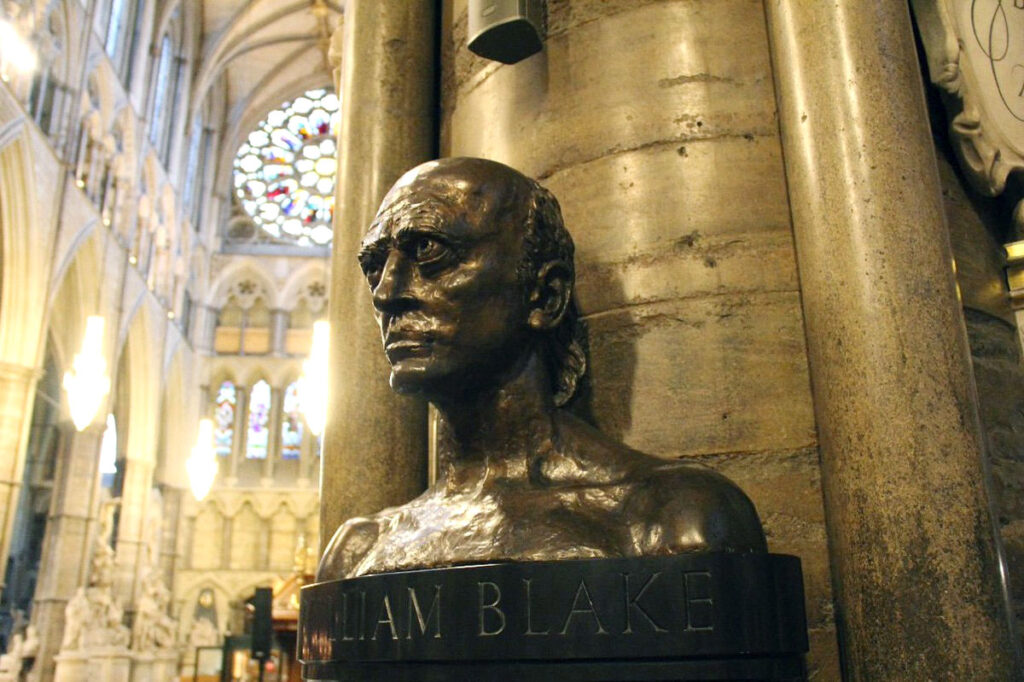 Busto di William Blake a Westminster Abbey