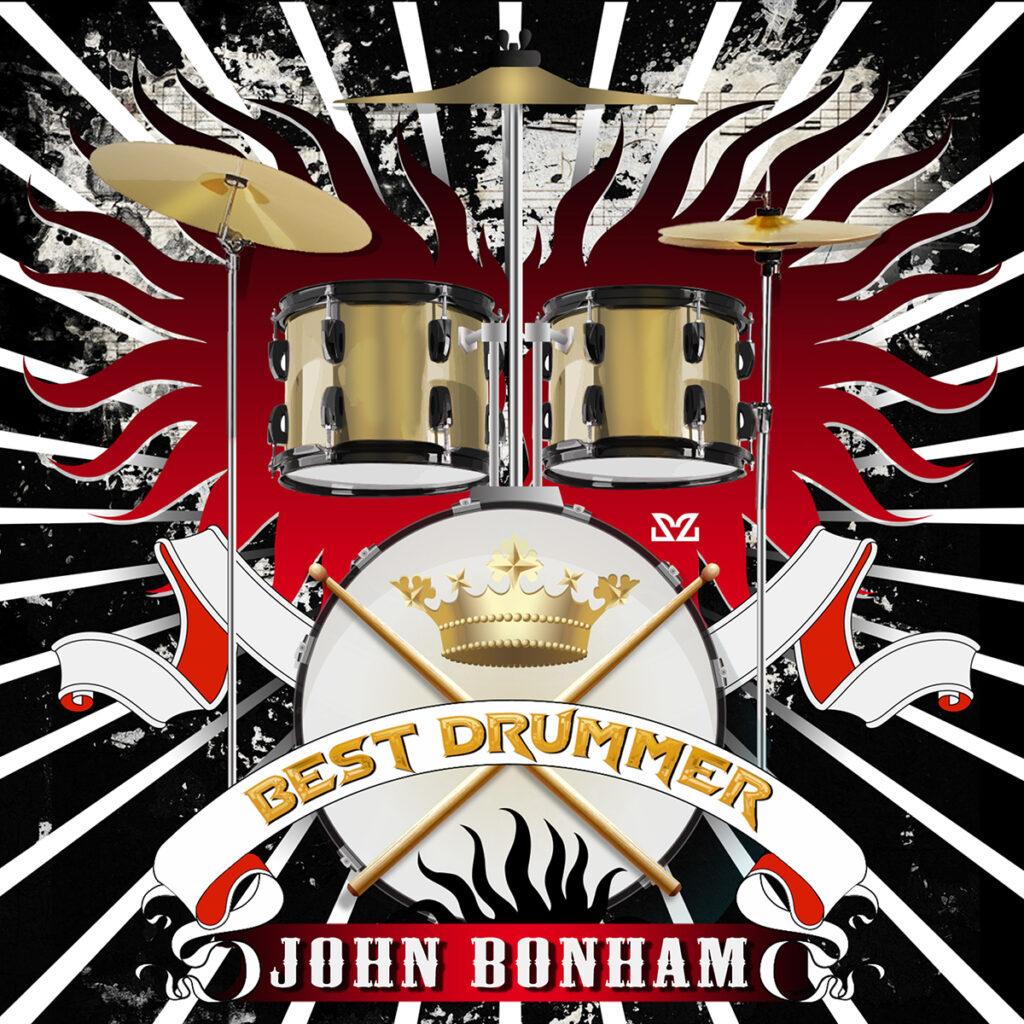 Illustrazione di Zoa Studio dedicata a John Bonham