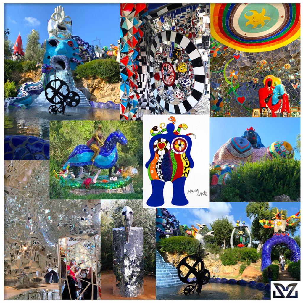 Foto dal Giardino dei Tarocchi di Niki De Saint Phalle