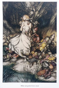Illustrazioni di Arthur Rackham per Il Mercato dei Folletti