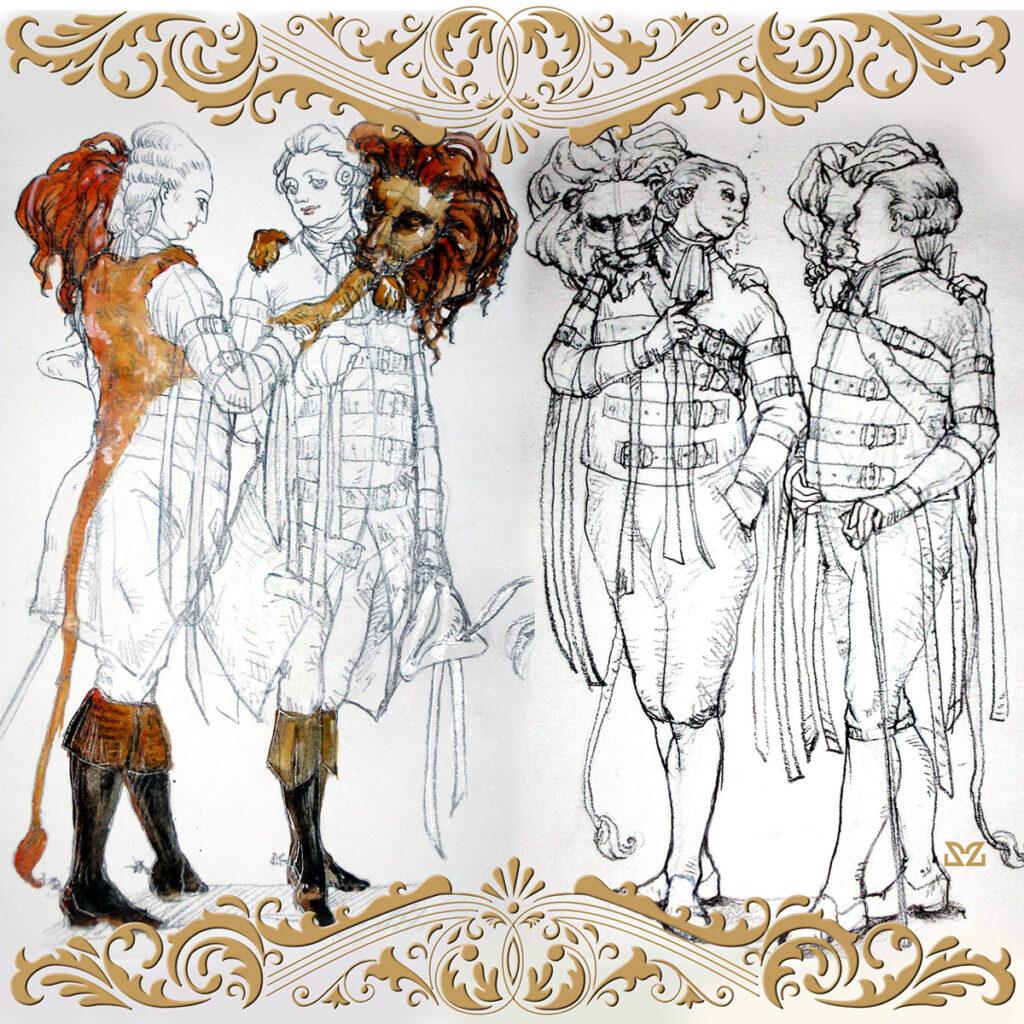 Bozzetti per il Don Giovanni di Mozart eLorenzo da Ponte di Zoa Studio