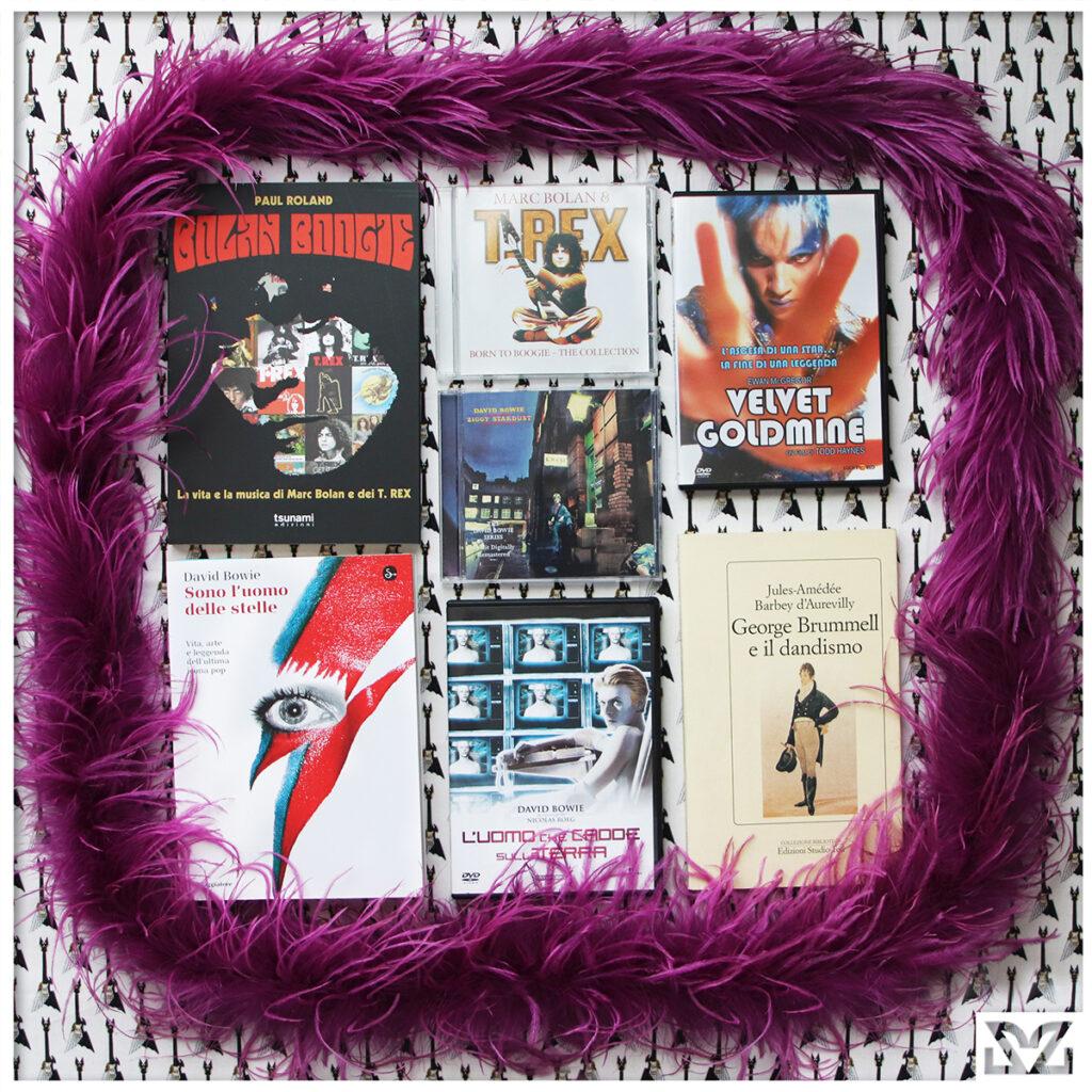libri e album glam rock con stampa zoa studio
