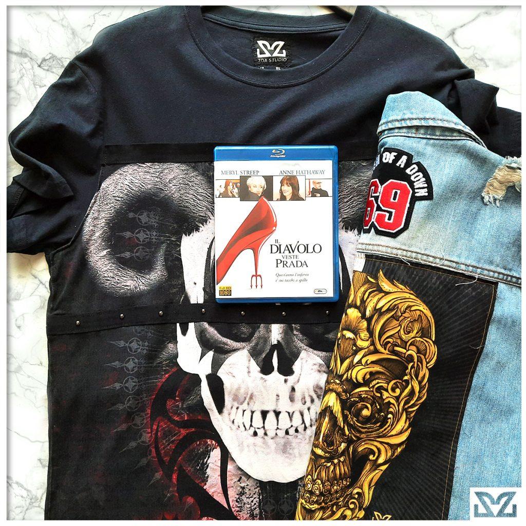 Dvd Il Divolo veste Prada con abbigliamento con stampe Zo Studio