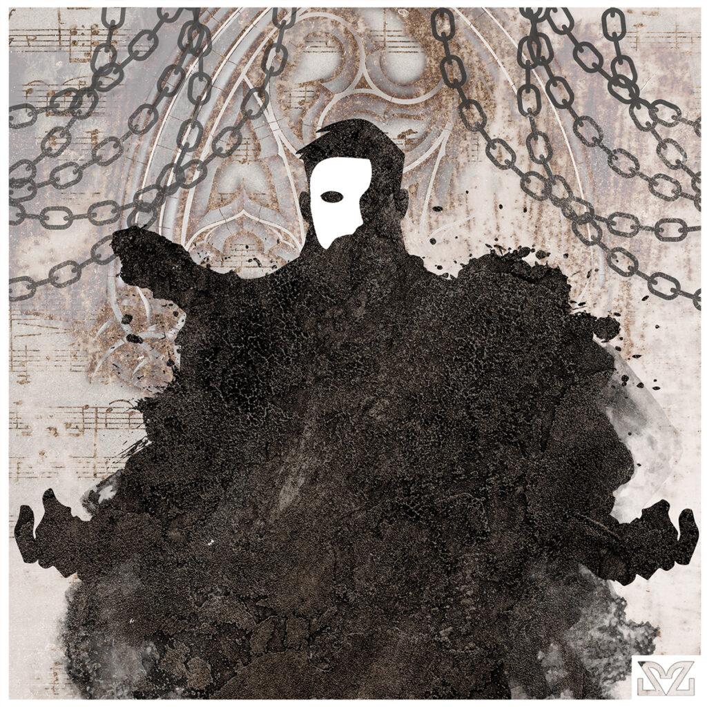 Illustrazione di Zoa Studio dedicata a Il Fantasma dell'Opera