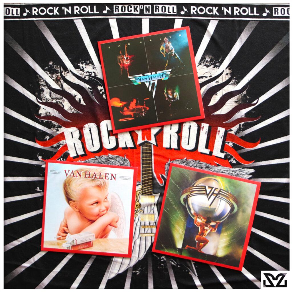 Stampa Zoa Studio con album dei Van Halen - tributo ad Eddie Van Halen